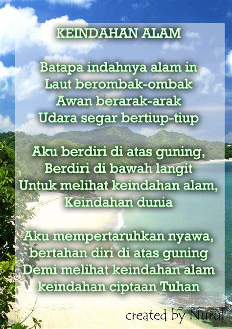 membuat puisi yang bertema keindahan alam contoh puisi tentang alam