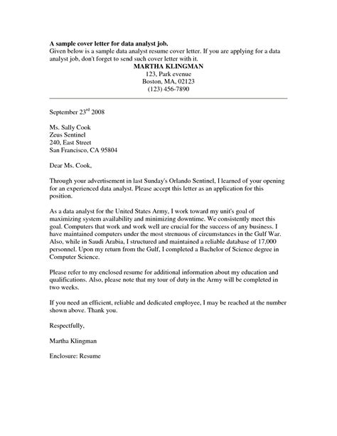 cover letter for internal position sle cover letters