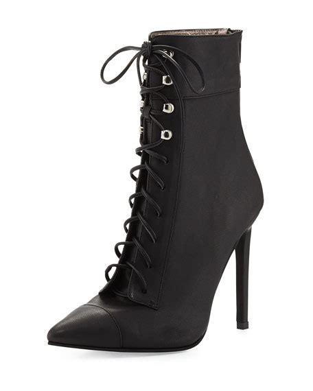 Dress Lace Greiny jeffrey cbell elphaba grainy leather lace up bootie black
