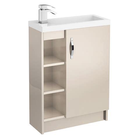 The Door Shelf Unit by Apollo Compact 600mm Single Door Open Shelf Unit With Basin