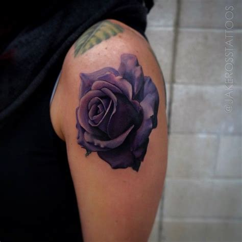 violet and rose tattoo best 25 purple tattoos ideas on