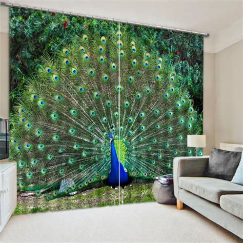 popular peacock curtains buy cheap peacock curtains lots