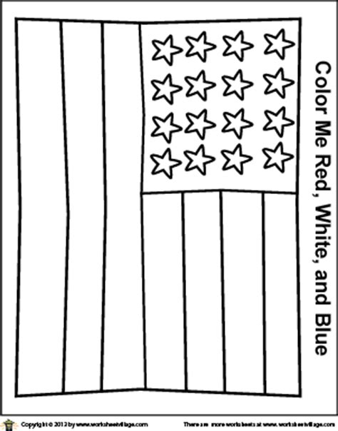 a simplified american flag coloring page