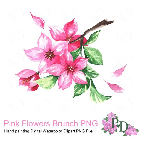 Create Your Own Personal Planner pink flowers brunch watercolor clipart png file digital hand