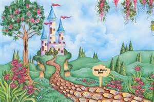 castle wall mural decoration wallpaper mural ideas 13347 princess castle wall murals girls wall stickers