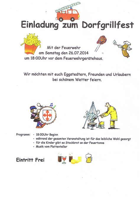 freiwillige feuerwehr eggstedt 187 einladung grillfest am 26