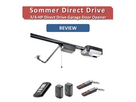 Review Of The Sommer Direct Drive 3 4 Hp Garage Door Opener Direct Drive Garage Door Openers