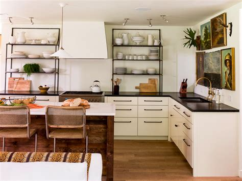 kitchen with no cabinets that 70 s kitchen from drab to fab