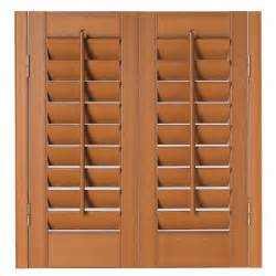 plantation faux wood interior shutter