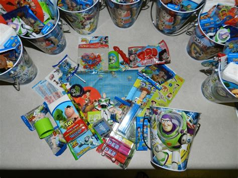 Goody Bag Ransel Story goodie bag items all story themed pencils sharpeners erasers fruit sweet