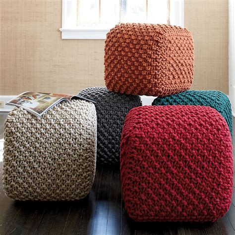 how to make a square pouf ottoman how are these square poufs in various colors place a