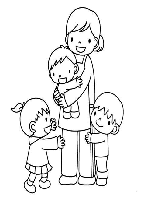 imagenes sobre la familia para niños im 225 genes de la familia en dibujos para colorear