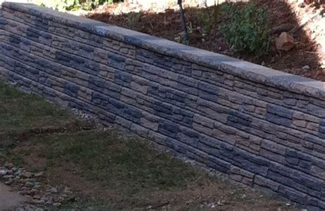 concrete block retaining walls holding back the soil with style
