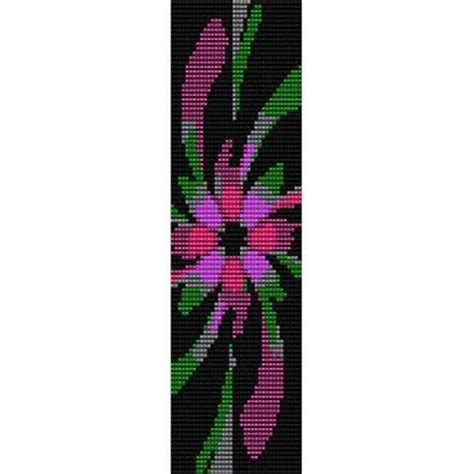 bead loom flower patterns fractal flower loom beading pattern for cuff bracelet