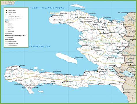 haiti map of cities haiti road map