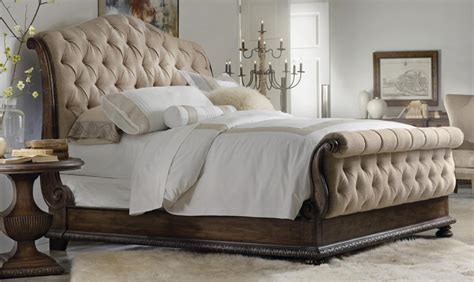 tufted headboard footboard victiroan style bed made of wooden in brown color with