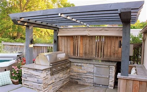 Toit Pour Barbecue by Barbecue Avec Toit Best Barbecue Terrasse With Barbecue