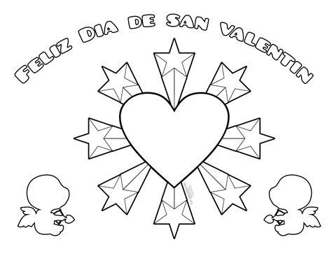 imagenes en ingles para san valentin dibujos de san valentin para colorear e imprimir
