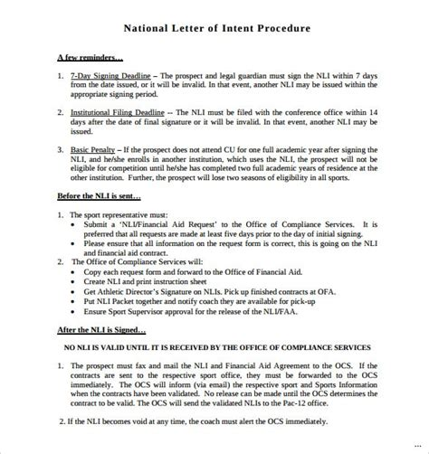 Release Letter Of Intent national letter of intent groun breaking portrait qbbatybe