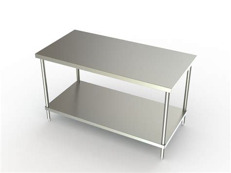30 Stainless Steel Shelf by Aero Manufacturing Work Tables With Stainless Steel Shelf