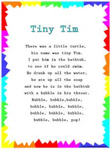 turtle in the bathtub song silly songs lyrics for quot tiny tim quot with a learn along