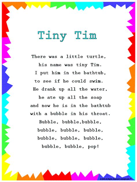 singing in the bathtub lyrics silly songs lyrics for quot tiny tim quot with a learn along video
