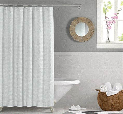 Quilted Shower Curtains by Retreat Quilted Squares Binded Edges Lt Blue White Or