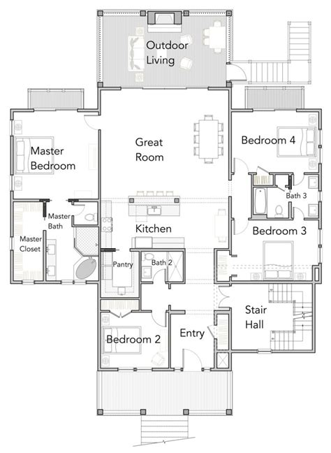 Floor Plan With Perspective House by Best 25 Beach House Plans Ideas On Pinterest Beach