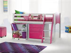 scallywag cabin bed 5 white pink scallywag midsleeper beds