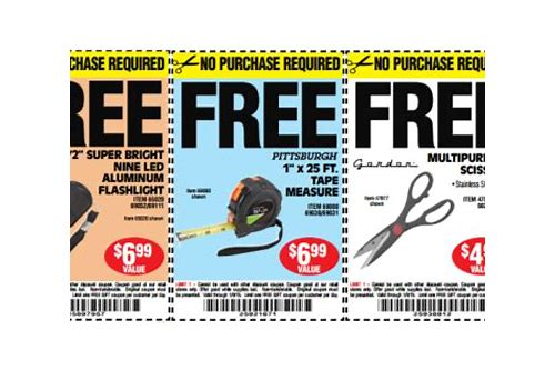 harbor freight coupons free items
