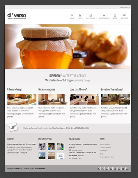 free templates with slider di verso a free html template versatile and responsive