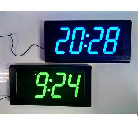 oversized led clock dhl free 4 0 large led digital oversized wall clock modern design home decor 3d decorative big