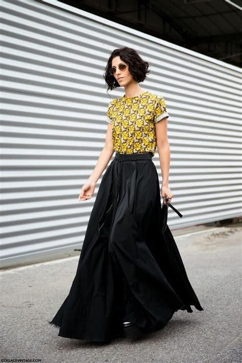 black statement maxi skirts two ways see the