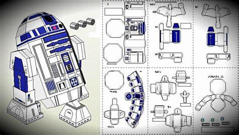 How To Make R2d2 Out Of Paper - papermau wars r2d2 robot paper model by kawase