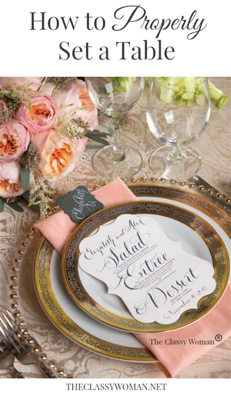 classy woman manners monday properly set table