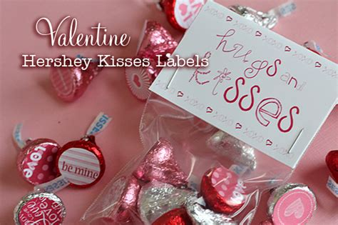 Valentines Kisses by Hershey Kisses Labels Makoodle