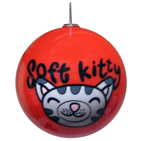 big bang theory soft kitty ball ornament ripple junction