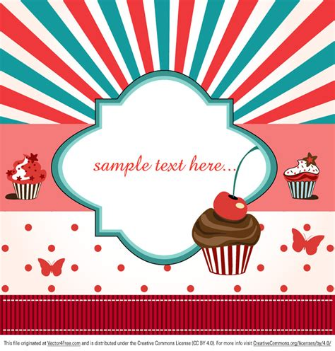 Does A Card Show Up On A Background Check Cup Cake Vector Background Vector Graphics Freevector