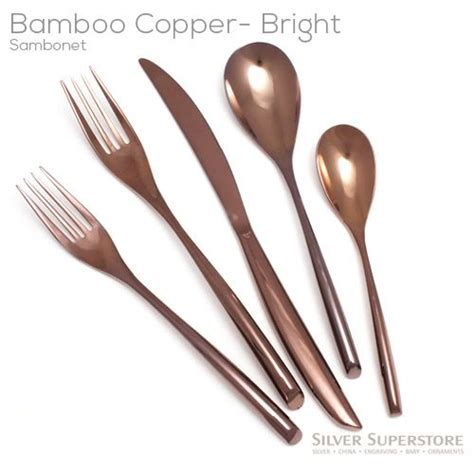 bamboo stainless steel flatware contemporary flatware sambonet bamboo copper stainless steel flatware silverware