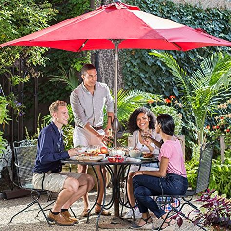 Abba Patio 9 Ft Market Outdoor Aluminum Table Patio Abba Patio Abba Patio 9 Ft Market Outdoor Aluminum Patio