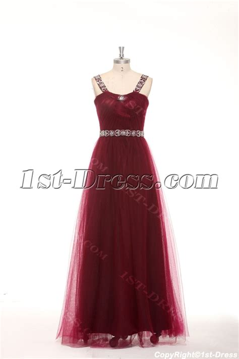 Elegant Beaded Straps Burgundy Plus Size Quinceanera Dresses:1st dress.com