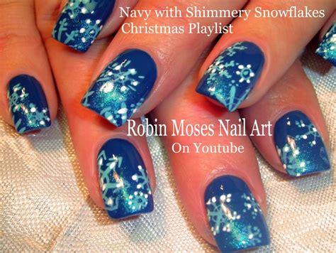 christmas robin nails easy snowflake nails gradient nail design tutorial nail