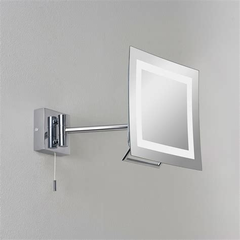 bathroom mirror chrome astro niro polished chrome bathroom mirror light at uk