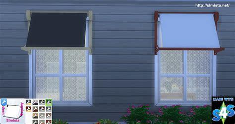 modern window awnings modern window awning at simista 187 sims 4 updates