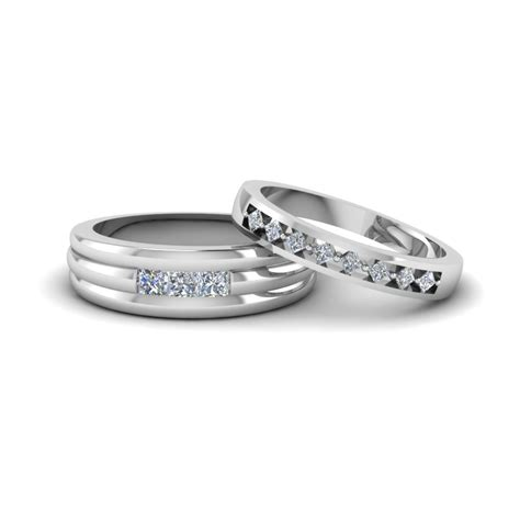 white gold wedding bands for him and matching wedding bands for him and fascinating diamonds
