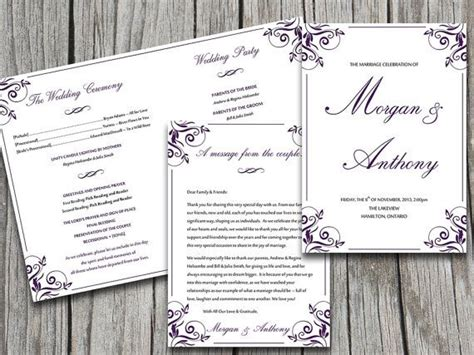 half fold wedding program template half fold wedding program template microsoft word ornate