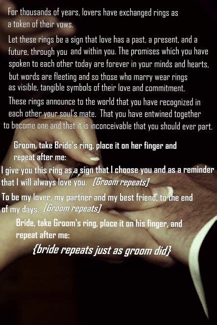 25 best ideas about wedding ceremony script on