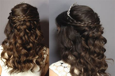 curly hairstyles half up half down tutorial hairstyles sweet 16 party fade haircut