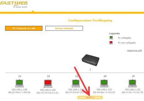 myfastpage configura porte router guida all installazione di emule rete fastweb e mod