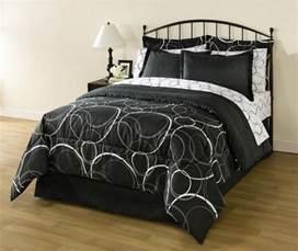 Full Size Black And White Comforter Sets White Black Gray Circles Geometric 8 Piece Comforter